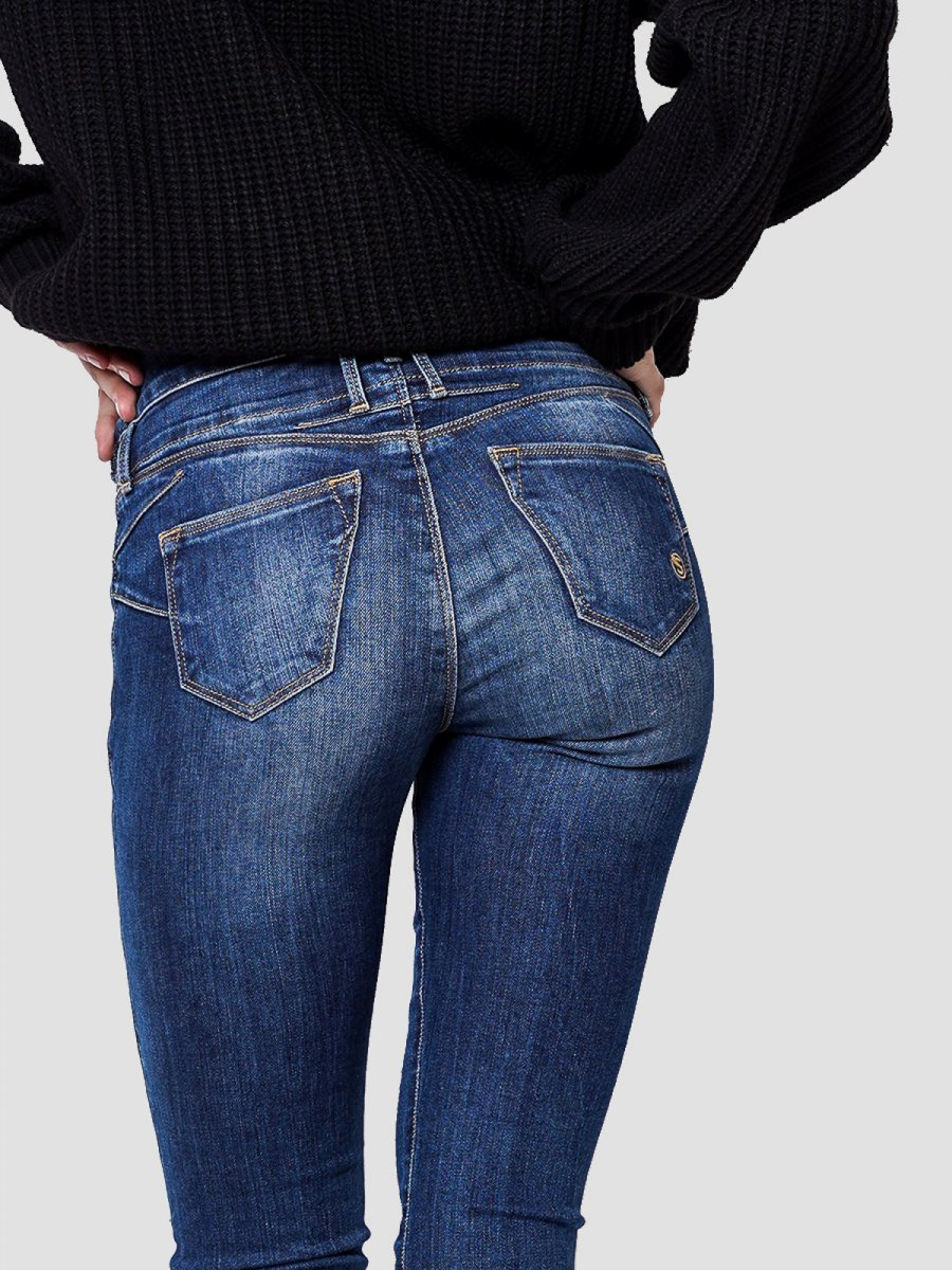 Bianca Skinny Fit Mid Rise Cropped