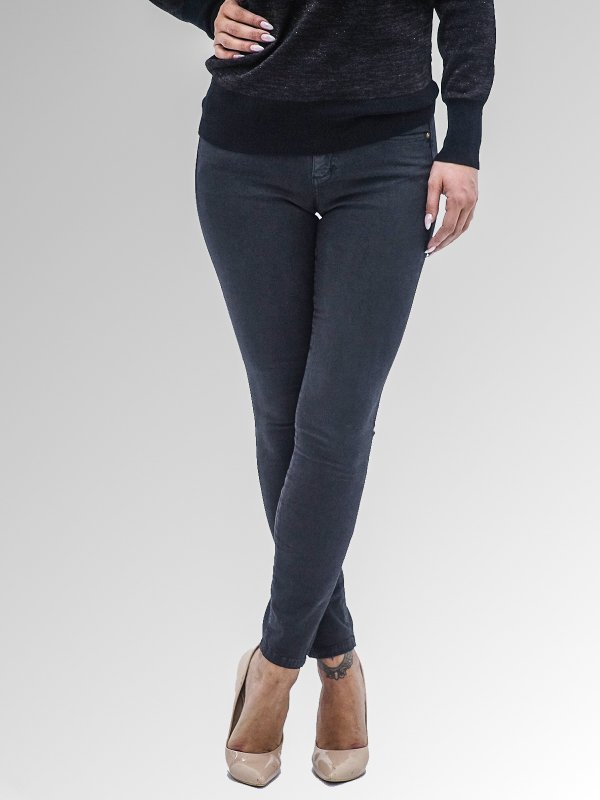 Sandra Skinny Fit Mid Rise Cropped