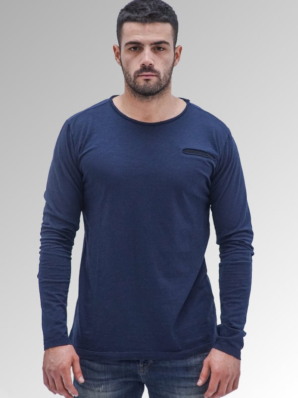 Man T-Shirt Longsleeve Cotton
