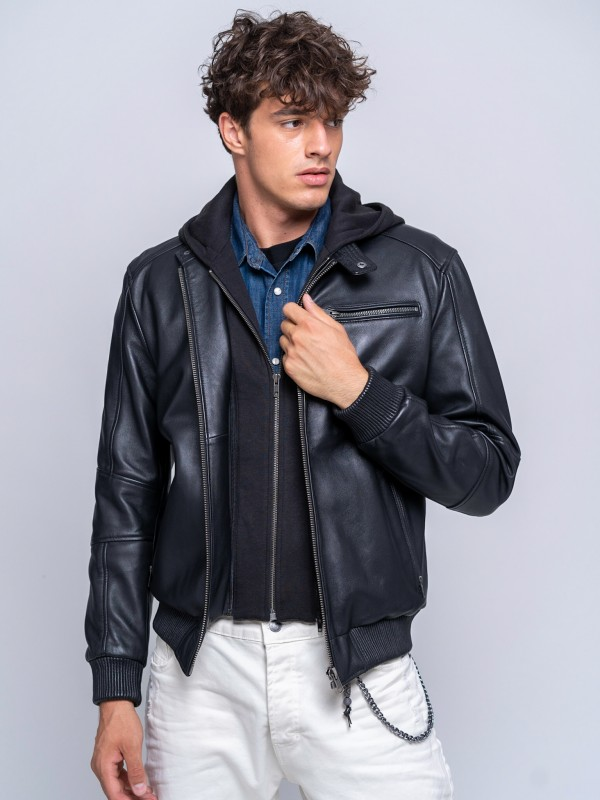 Jeansmith Man Leather Jacket